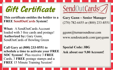 Send 3 FREE CARDS! CALL TODAY!